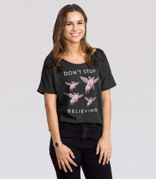 Don't Stop Believing Slouchy Tee