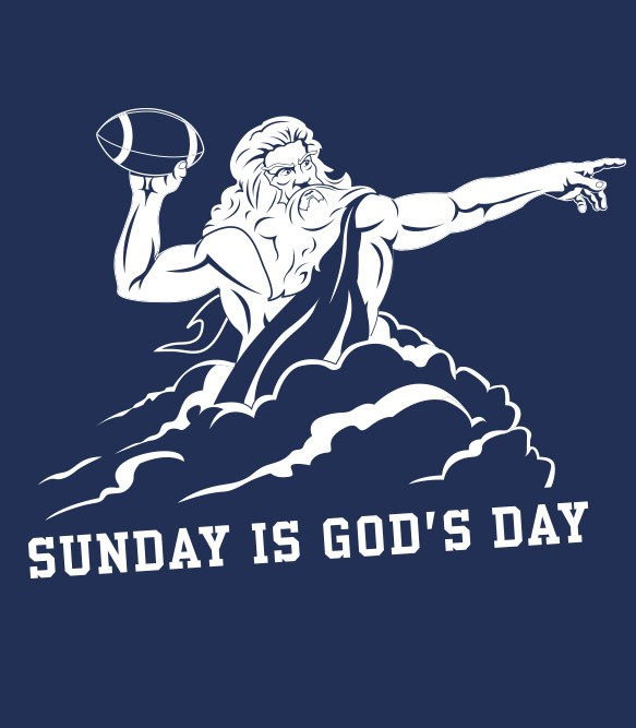 Sunday Is God's Day Women's Funny T-Shirt