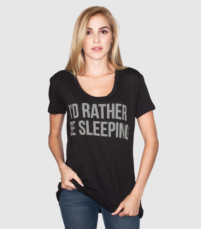 Shirt design female -  I D Rather Be Sleeping