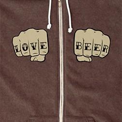 Love-Beer Tattoo Hoodie