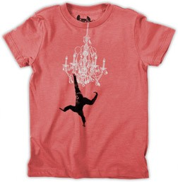 Monkey Chandelier Kid's T-Shirt