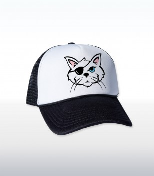 One Eyed Cat Cap