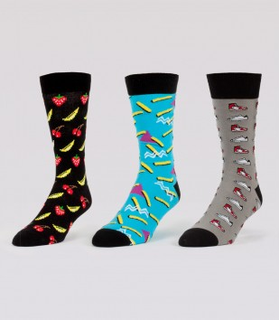 Old School Socks 3-Pack (3 Pairs)