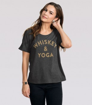 Whiskey & Yoga Slouchy Tee
