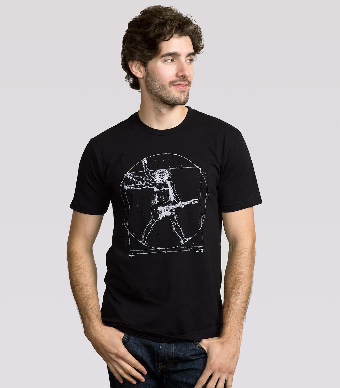 Black t shirt for man -  Da Vinci Rock Man