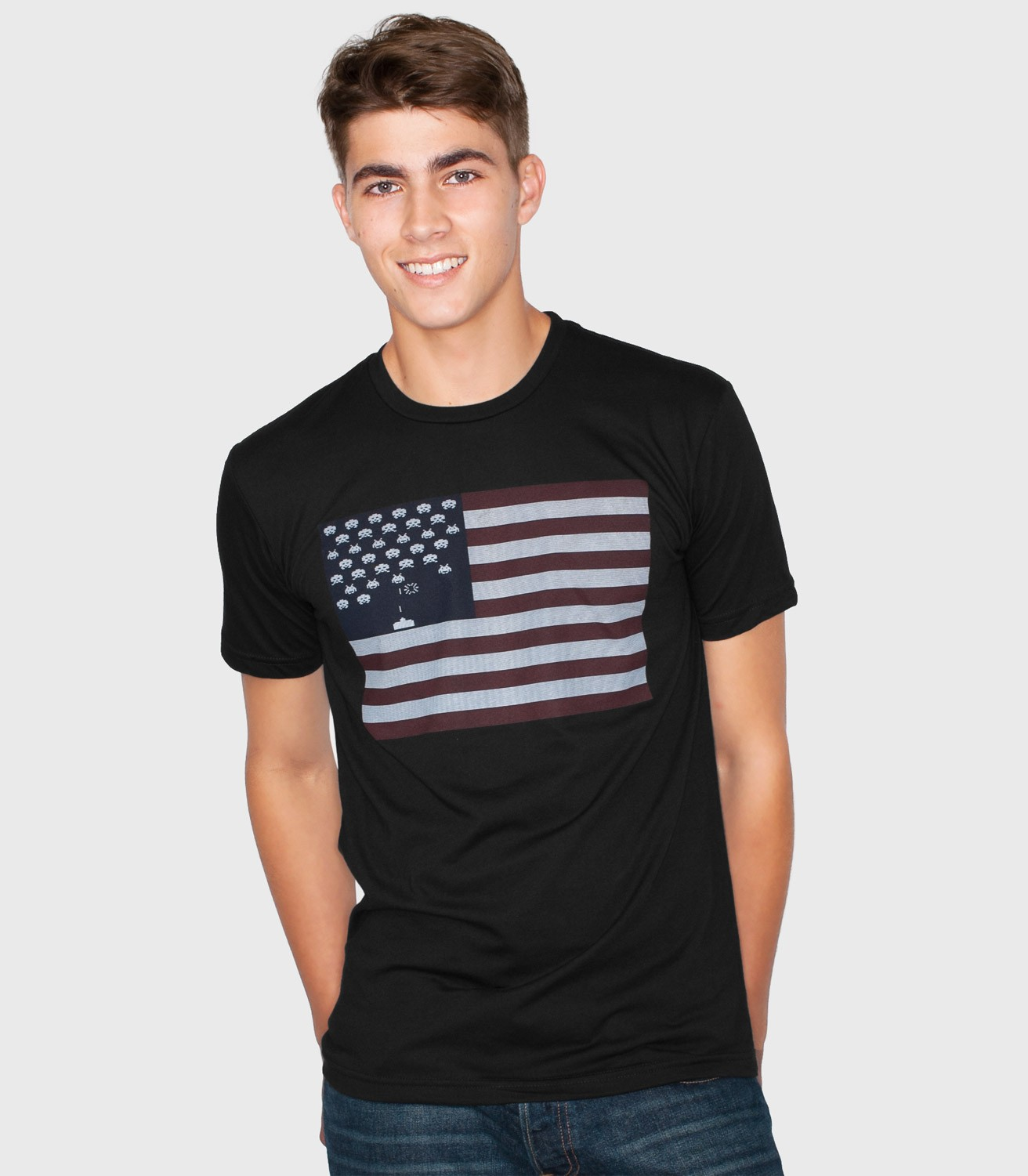Space Invaders Flag T Shirt Funny T Shirts